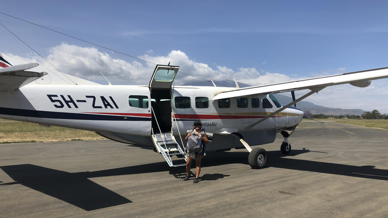 Flying back to Arusha via a local flight
