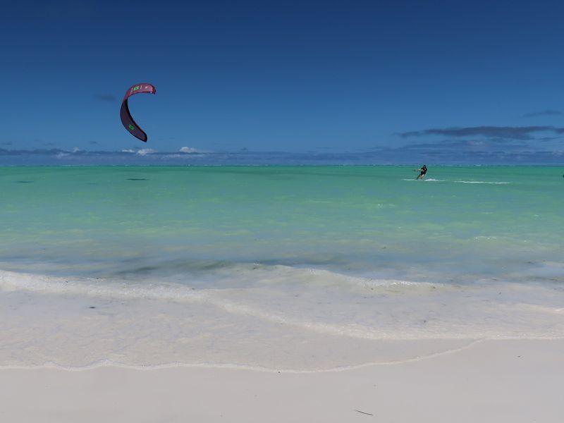 Kite Surfing in Paje Beach